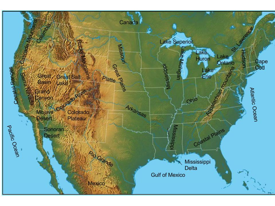 Aspen US Physical Features ThingLink - Us physical features