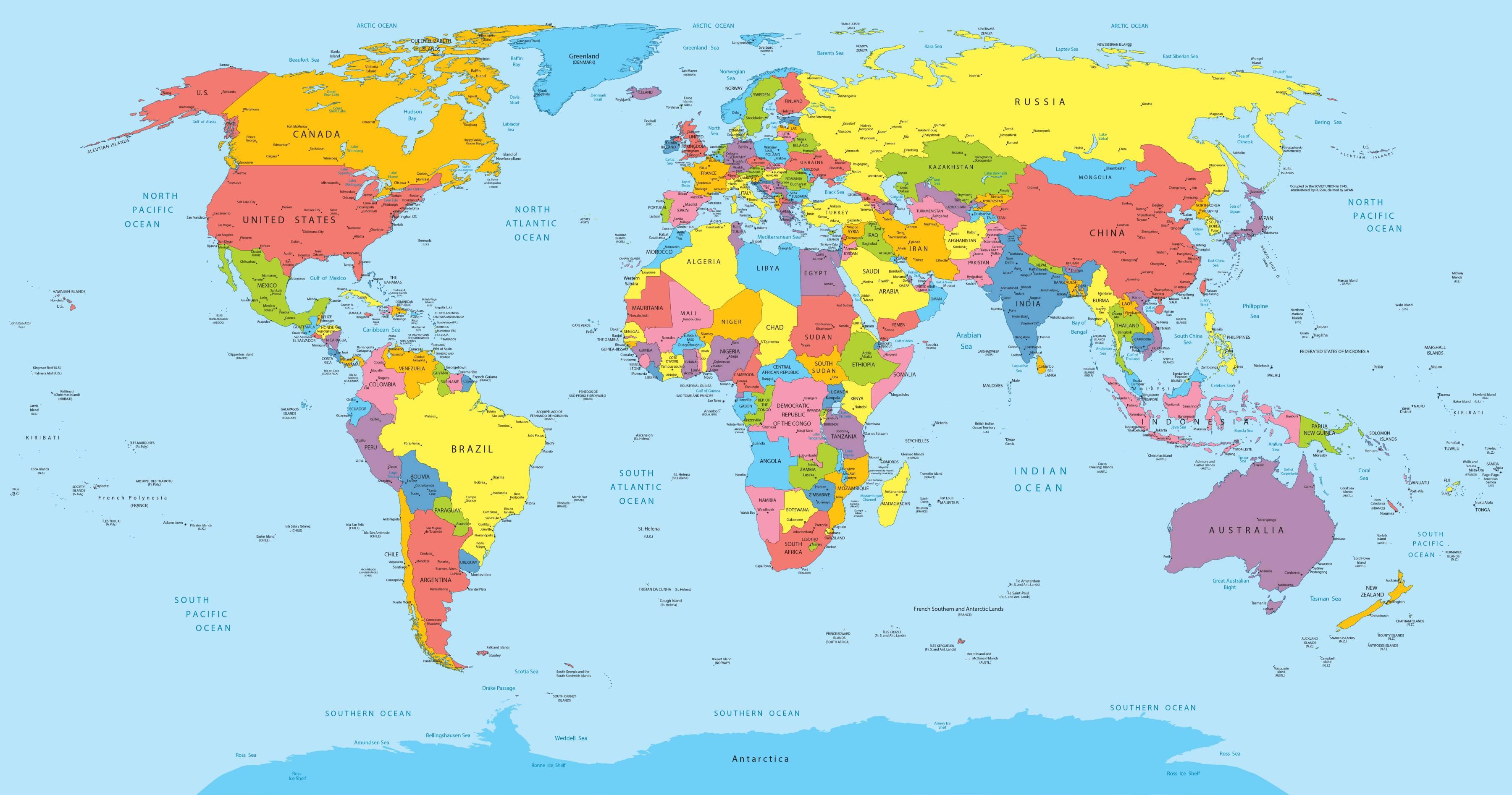 Carte Du Monde Interactive.Carte Du Monde Clique Sur Un Pays Pour Voir Son Drapeau