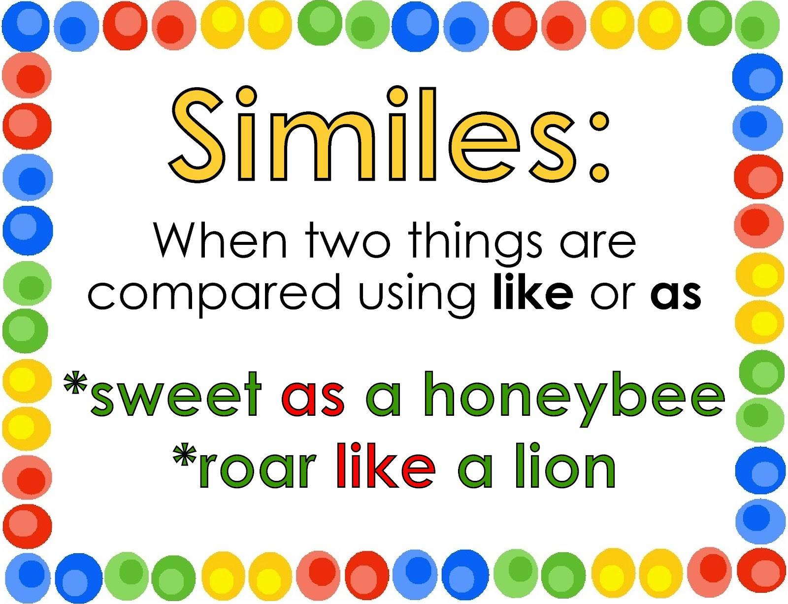 Simile Definition And Examples For Kids Gallery Example Cover