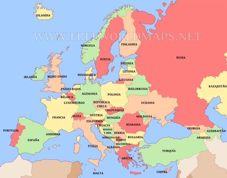 Mapa Europa  ThingLink