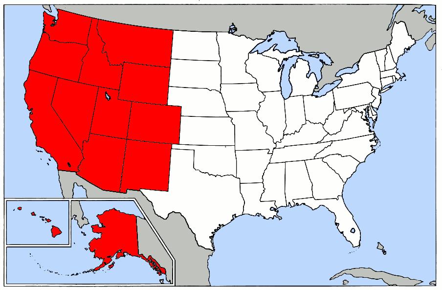 The West Region By Caroline Plummer ThingLink - Us west region map