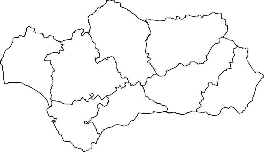 Mapa De Andalucia Politico.Mapa Politico De Andalucia