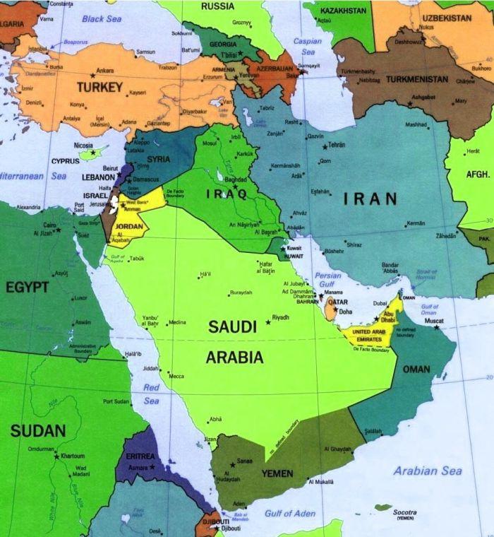 Cartina Europa E Medio Oriente.Medio Oriente