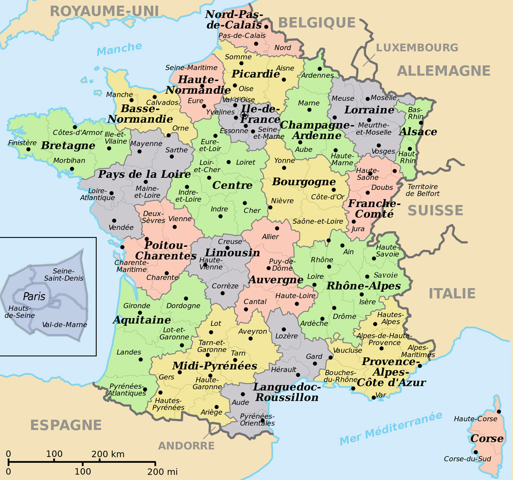 Image Carte De France Avec Departement | My blog